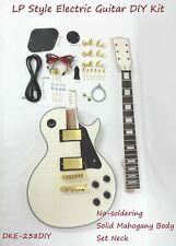 DKE-238DIY Set Neck Electric Guitar DIY Kit,Flame Maple Veneer,No-Soldering