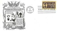 U.S. 1972 COLONIAL CRAFTSMEN Wigmaker Setent #1458 on Aristocrats FDC Cachet U/A