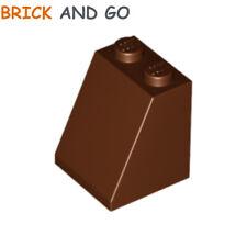 LEGO x 4 / 3678 - 4211320 Brique Toit (marron) Roof Brick 2x2x2 65° NEUF NEW