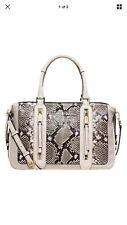 NWT Michael Kors Julia Embossed Leather LG Satchel Bag $395+