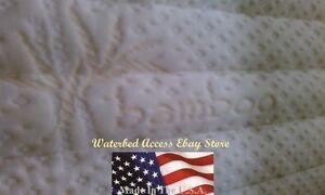 Super Single Organic Bamboo Zipper Mattress Cover for Hardside Waterbed Mattress