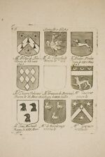 une planche de blasons par NOLIN XVII°, héraldique, noblesse