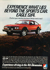 1981 AMC Eagle SX/4 SX4 - red car -  Classic Vintage Advertisement Ad H99