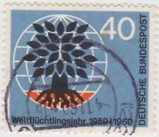 (G524) 1960 GERMAN 40pf uprooted trees ow1241