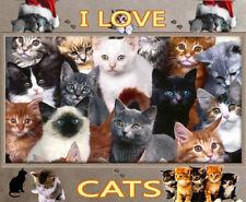 I LOVE CATS COMPUTOR MOUSE MAT TOP DESIGN XMAS GIFT NEW