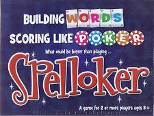 Spelloker Word Game Building words Scoring Like Poker What could be better NEW
