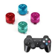 4PCs Aluminum Metal Bullet Buttons Mod Kit for PS3/PS4 Controller Multicolor