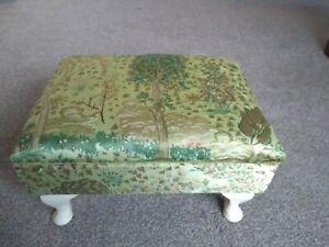 Vintage upholstered sewing stool