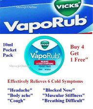 Vicks VapoRub 10ml Pocket Size pack Relieves Cold Symptoms - Cheapest on Ebay