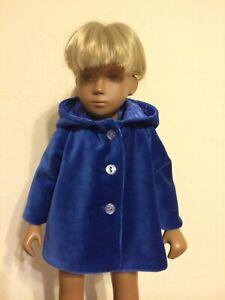 SASHA   DOLL CLOTHES - VELVET JACKET  hand made by JADZIA