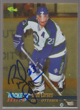 Autographed 1994 Classic Hockey Draft Gold Brad Larsen - Swift Current Broncos