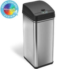 iTouchless 13 Gal. Stainless Steel Motion Sensing Touchless Trash Can