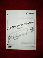 Crosman 500 Factory Service Manual With Exploded View