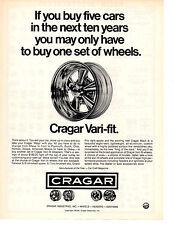 1973 CRAGAR VARI-FIT WHEEL  ~  CLASSIC ORIGINAL PRINT AD