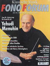 Fono Forum 4/96 Sony sa-va 55, Sony vip-1000, Harry christopher, Yehudi Menuhin