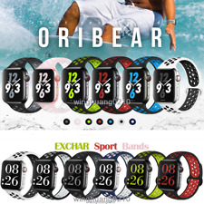 Silicone Sport Band Strap for Apple Watch Series SE 6 5 4 3 2 1 38-40mm 42-44mm