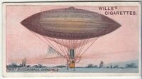 1883 First Electric Powered Dirigible Flight 100+ Y/O  Trade Ad Card