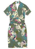 ETRO Womens 46 $1860 Floral Print Silk Dress Midi Length Halter Sleeveless