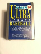 1991 Fleer Ultra Update Baseball 120trading Cards 20 Logo Stickers