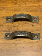 Antique Ornate Finger Pulls Cast Iron C. 1890's