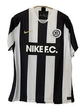 Nike Men 18/19 Home Stadium Black White Soccer Football Jersey Sz L