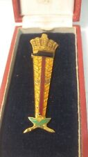 Gold Crown Medal of Honor Pin Laureate National Exhibition of Labor Belgium 1935
