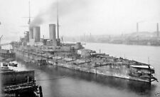 ROYAL NAVY BATTLECRUISER HMS QUEEN MARY AT JARROW-ON-TYNE IN 1913