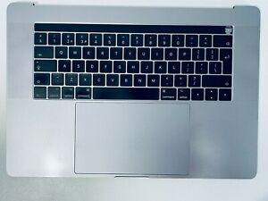 "MacBook Pro 15"" Touch Bar 2016 2017 A1707 Palmrest UK Keyboard Battery Grey"