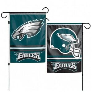 """PHILADELPHIA EAGLES 2 SIDED 12""""x18"""" GARDEN FLAG NEW & OFFICIALLY LICENSED"""
