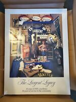 Steve Largent LEGACY retirement Poster SEATTLE SEAHAWKS 24X36