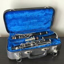 Black Dolfin Clarinet In Black Carry Case Blue Velvet Lining #414