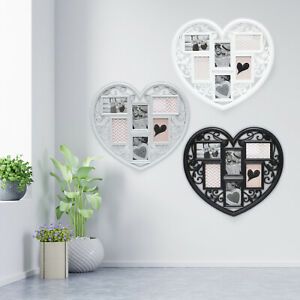 Heart Shaped Photo Large Wedding Frame Love Wall Hanging Multi Collage 6 Picture