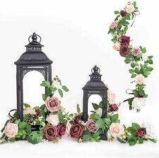 Ling's Moment Handcrafted Rose Flower Garland Floral Arrangement - PACK OF 6