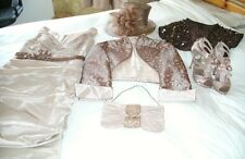 JOHN CHARLES, MOTHER OF THE BRIDE/GROOM OUTFIT SIZE 12, HAT BAG & SHOES SIZE 4