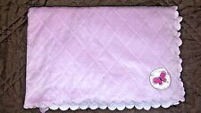 Carter's Child of Mine Baby Blanket Pink Quilted Sherpa Butterfly Scalloped Edge