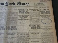 1922 OCT 14 NEW YORK TIMES - HALL FAMILY ASK GOVERNOR FOR INVESTIGATION- NT 5825