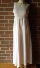 Vintage ILGWU MISS ELAINE Nightgown Full Length Soft Pink Nylon Cut-Out Back M/L