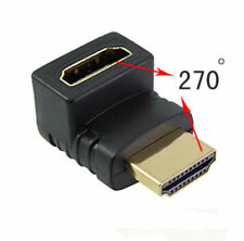 270 Degree Right Angle HDMI Male to Female Adapter Connector Cable for TV PC UK