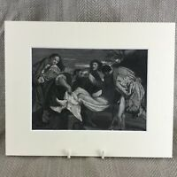 1860 Print The Entombment Jesus Christ Titian Painting Original Antique