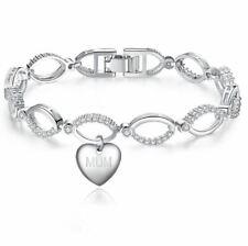 Sanabelle ™ cognata di cuore personalizzato inciso fascino LINK Braccialetto