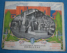 Orig.PRG / Pictorial Review   Olympic Games STOCKHOLM 1912 - WRESTLING !! RARITY