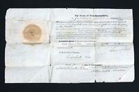 1823 Commission Lt. Joseph Currier, 7th Reg. New Hampshire Militia; Gov. Bell