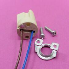 Ceramic Lamp Holder G9 LED Bulb Socket Halogen 15cm Leads & M10 Metal Bracket