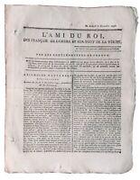 Révolte des esclaves 1791 Journal Royaliste Ami du Roi Vauvineux Esclavage