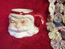 Vtg Santa Claus Cup Ceramic Kris Kringle Peeling Paint Old Mug