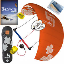 HQ4 Rush Pro 350 3.5M Trainer Power Kite Kiteboarding Snow + How To Snowkite DVD