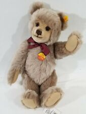 "LM VINTAGE Steiff 010903 Original 16"" Mohair Jointed Teddy Bear W Red Bow NEW"