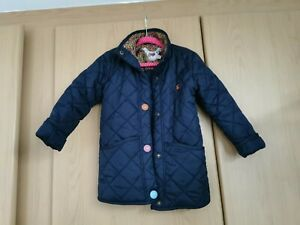 Joules Girls Navy Padded Jacket Age 4
