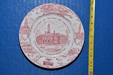 Worcester Savings Loan Plaza Springfield MA Court Square Plate 1965 Walker China