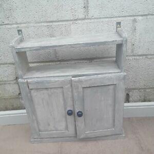 Vintage Kitchen Wall Cabinet Bathroom Storage Display Unit Shabby Chic Cupboard